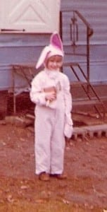 Barbara dressed as a bunny