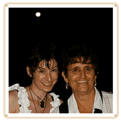 Barbara and Dr Rosita Arvigo under the full moon in Belize.