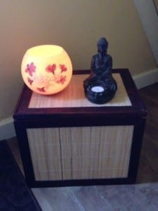 …and a bedside altar